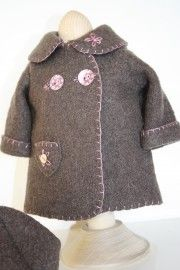woolen jacket and beret...