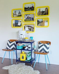 Check out this DIY Magnetic Photo Message Board that is bright and simple to make
