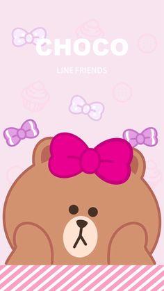 Bright Wallpaper, Lines Wallpaper, Kawaii Wallpaper, Cony Brown, Brown Bear, Melody Hello Kitty, Brown Line, Friends Wallpaper, Line Friends