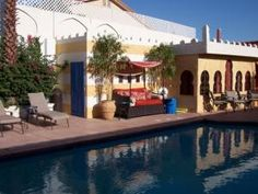 Learn more about El Morocco Inn & Day Spa, an inviting California bed and breakfast. View photos, amenities and reserve your stay on CABBI! Hot Springs, Palm Springs, Future Travel, Spa Day, Bed And Breakfast, View Photos, Morocco, California, Mansions