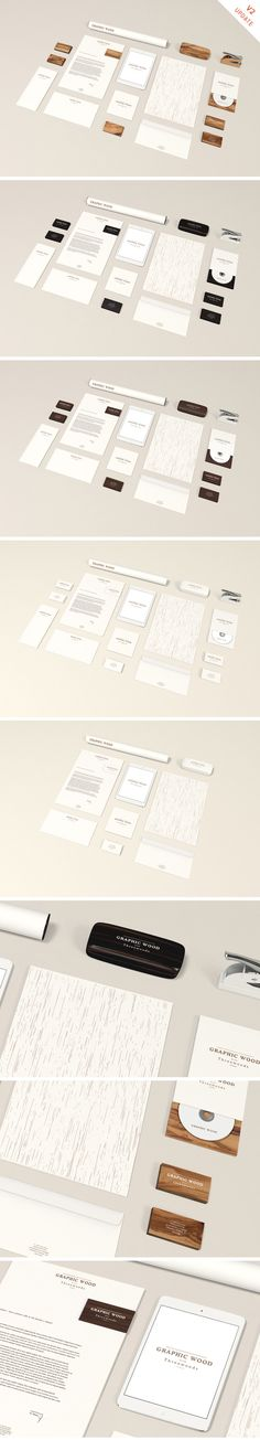 Stationery MockUp - Wood Edition - 365psd