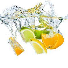 citrus fruit splashing
