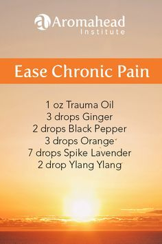 """I love this blend in the cooler weather - """"Ease Chronic Pain"""" offers support when you need it most! Black Pepper essential oil steps in with quick relief and then it hangs around for a while to be sur Essential Oils For Pain, Doterra Essential Oils, Young Living Essential Oils, Essential Oil Diffuser, Essential Oil Blends, Essential Ouls, Arthritis, Black Pepper Essential Oil, Massage Benefits"""