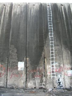 Banksy against the wall of Israel