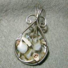 Handcrafted Wire Wrapped Pendant  Beautiful by JewelryArtistry