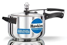 Hawkins Stainless Steel 4.0 Litre Pressure Cooker by Hawkins -- Awesome product. Click the image : Pressure Cookers