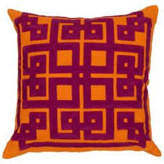 Beth Lacefield by Surya Squares Decorative Pillow
