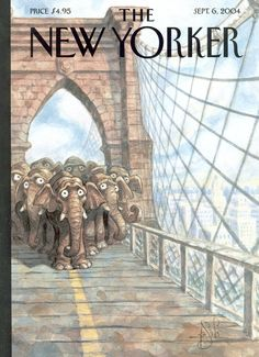 "The New Yorker - Monday, September 6, 2004 - Issue # 4088 - Vol. 80 - N° 25 - « The Food Issue » - Cover ""Trunk Show"" by Peter de Sève"