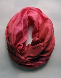 Hand Dyed Linen Scarf - Oversized Hot Pink Linen Scarf - Fashion Scarf - Linen Shawl - Gift - Fall Fashion -  Womens Scarves
