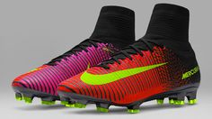 The new Nike Spark Brilliance football boot collection introduces utterly bold colors to be worn at Euro 2016 in France next month.