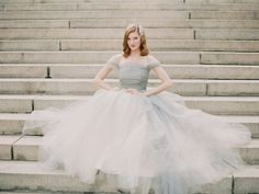 This soft grey wedding dress by Sareh Nouri is perfect for the modern day princess