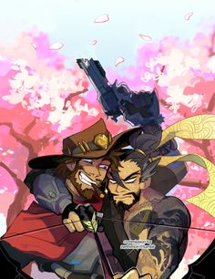 Hanzo looks three seconds from bloody murder but then again it's Hanzo he's just about always three seconds away from murder