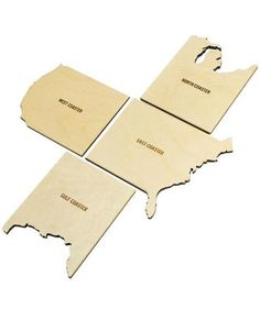 43 Valentine's Day Gifts for Your Boyfriend or Husband | The long-standing coastal rivalry is surely up for debate with this set of four tongue-in-cheek birch wood coasters that give equal cred to four distinct regions of the United States (West Coast, East Coast, Gulf Coast, and North Coast).
