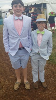 Yes! These are two of the cutest 2014 @Atlanta Steeplechase. Love the suits and bow ties!