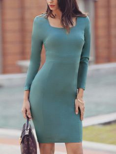 Square Neck Long Sleeve Bodycon Midi Dress Women's Online Shopping Offering Huge Discounts on Dresses, Lingerie , Jumpsuits , Swimwear, Tops and More. Dresses For Teens, Casual Dresses, Prom Dresses, Dress Prom, Dress Wedding, Formal Dress, Bridesmaid Dress, Fancy Dress, Trendy Outfits