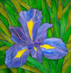 Mosaic Iris by Brookside Mosaics