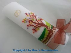 Hochzeitskerze von _♥ ♥ ♥ Manu`s Kerzenzauber ♥ ♥ ♥_ auf DaWanda.com