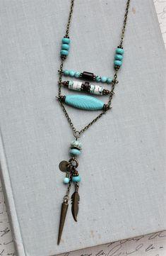 Turquoise Necklace. Boho Necklace