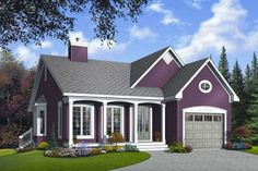 Country 2 Beds 1 Baths 1191 Sq/Ft Plan #23-785 Front Elevation - Houseplans.com