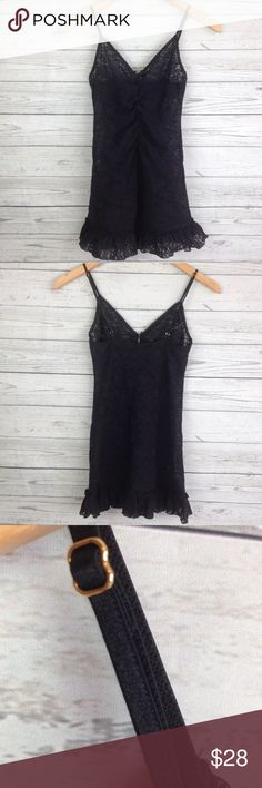"""Victoria's Secret black lace Sz S Nightgown NG99 measurementswhen flat: ~Bust (armpit to armpit) 14"""" ~length (shoulder down side) 27""""  size S  PLEASE CONTACT ME with any questions orconcerns beforeor after a purchase! i am here to help! :)  Iusuallyship within 2 day (sometimes even the next day). Victoria's Secret Intimates & Sleepwear Chemises & Slips"""
