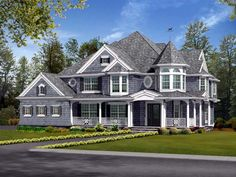Farmhouse Victorian House Plan 87587