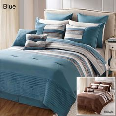 @Overstock - This Sasha bedding set includes two four-piece sheet sets. The embroidered polyester is machine washable and comes in a choice of blue or brown.http://www.overstock.com/Bedding-Bath/Sasha-16-piece-Bed-in-a-Bag-with-Two-Sheet-Sets/7583722/product.html?CID=214117 $99.99