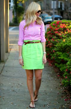 | SPRING |  Shirt- J. Crew  + Sandals- Sam Edelman + Belt- J. Crew Factory + Sunglasses- Tory Burch + Bracelets- J. Crew Factory,