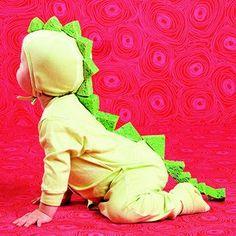 510d482b03b Cut up sponges and a green jumper   Baby-Dragon-Costume