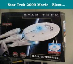Star Trek 2009 Movie - Electronic Enterprise Ship. Now you can take control of the galaxy's best-known ship with the Star Trek USS Enterprise Iconic Vehicle. Designed for ages four and older, this meticulously detailed replica of the Starship Enterprise. It is modeled after the NCC-1701 Enterprise -- the version of the Enterprise that appears in the 2009 Star Trek movie. Featuring glowing blue lights and sound clips from the movie, the replica comes with a display stand, allowing you to…