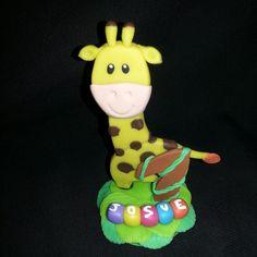 Jirafa en Masa Flexible. Animales de la Selva. Jungle Friends polymer clay