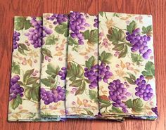 Vintage Cloth Dinner Napkins Purple Grapes and Vines Eco Cloth Dinner Napkins, Classic House, Bridal Shower Gifts, Hostess Gifts, Vintage Designs, House Warming, Vines, Birthday Gifts, Great Gifts