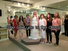 She said yes! We love helping our brides find the dress of their dreams.