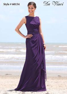 Layers of chiffon adorn the A-line silhouette of Da Vinci 60154 Bridesmaid  Dress 26b88bf40079