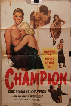 .CHAMPION  @ClassicMovieHub One of our oldest one-sheets. From 1949.