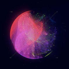 Gelphi Abstract Art - Facebook Network Data on Behance