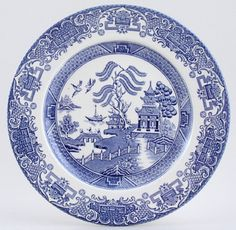 Plate c1950s or 1960s Burleigh Willow | Blue Willow | Pinterest ...