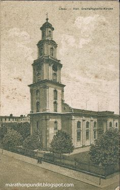 1930s postcard: Holy Trinity Cathedral in Liepāja, Latvia