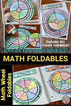 Interactive Student Notebooks, Math Notebooks, Math Resources, Math Activities, Math Coloring Worksheets, Math Projects, Math Art, 4th Grade Math, Math For Kids