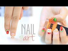 Diseños de uñas con frutas