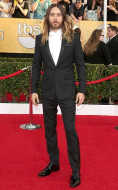 Jared Leto hits the SAG Awards in Dior. What is it about this hottie -- we can't look away!