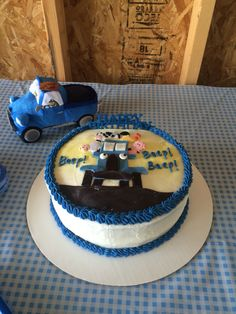 Little Blue Truck Cake Beep