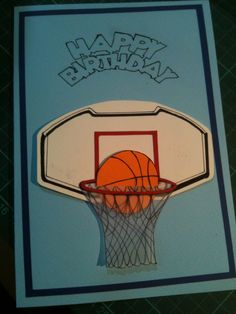 Request from a father A Birthday Card for his son who loves basketball