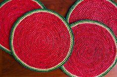 Vintage Watermelon Placemats Set of 4 / Summer Entertaining / Outdoor Entertaining / Outdoor Dining / Etsy / Duncan & Co.