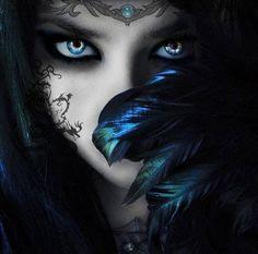 dark fantasy ladies and umbrellas | Beautiful...! | Wiccan | Pinterest