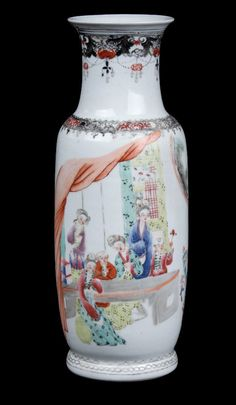 China 20. Jh. Große Fencai - A Chinese Famille Rose Vase - Chinois Vaso Cinese