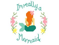 I'm Really a Mermaid Cross Stitch Pattern Digital by JosieMakes
