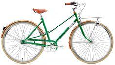 Creme Caferacer Doppio Naiset kaupunkipyörä 7-speed, vihreä