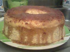Receita de Bolo com Pudim - bolo com pudim quebre,depois de frio leve a...