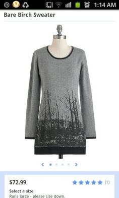 Bare Birch sweater by ModCloth