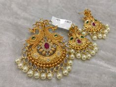"""www.facebook.com/dimplecollections2 To place an order : Plz WhatsApp me at """"+19733421878"""" or mail me at """"dimplecollections2@gmail.com"""" Gold Jewellery Design, Gold Jewelry, Beaded Jewelry, Jewelery, Jewelry Necklaces, Pendant Jewelry, Gold Bangles, Gold Earrings, India Jewelry"""